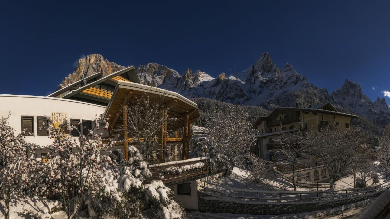 Inverno vista Pale di San Martino
